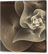 Stylized Philodendron Sepia Canvas Print
