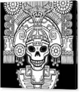 Stylized Skull. Pagan God Of Death Canvas Print