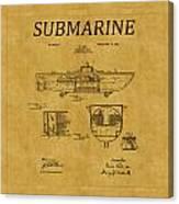 Submarine Patent 5 Canvas Print