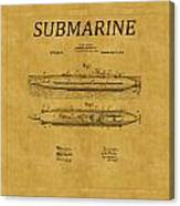 Submarine Patent 7 Canvas Print