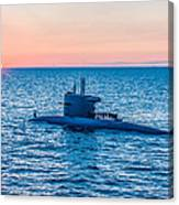 Submarine Sunset Canvas Print