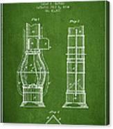 Submarine Telescope Patent From 1864 - Green Canvas Print