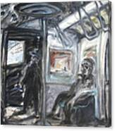 Subway Car Interior Canvas Print