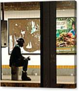 Subway Sitter Canvas Print