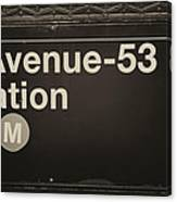 Subway Station Sign Canvas Print