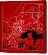 Sudbury Street Map - Sudbury Canada Road Map Art On Color Canvas Print