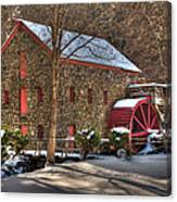 Sudbury Wintery Grist Mill Canvas Print