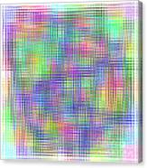 Sudoku Connections White Glass Mosaic Canvas Print