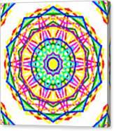 Sudoku Connections White Kaleidoscope Canvas Print