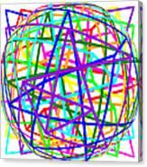 Sudoku Connections White Spherize Canvas Print