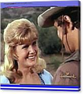 Sue Green Mark Slade The High Chaparral 1966 Pilot Screen Capture Collage 1966-2012 Canvas Print