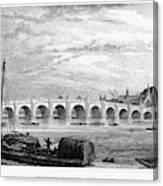 Suez Canal, 1894 Canvas Print