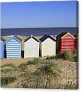 Suffolk Beach Huts Canvas Print