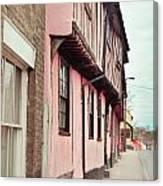 Suffolk Town Houses Canvas Print