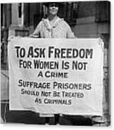 Suffragist 1917 Canvas Print