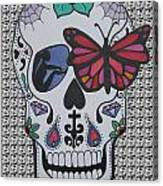 Sugar Candy Skull Pattern Canvas Print