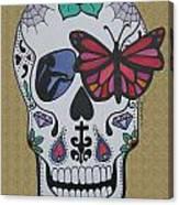 Sugar Candy Skull Sand Canvas Print