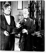 Sugar Daddies, From Left Oliver Hardy Canvas Print