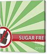 Sugar Free Banner Canvas Print