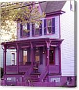 Sugar Plum Purple Victorian Home Canvas Print