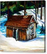 Sugar Shack Quebec Landscape Canvas Print