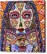 Sugar Skull Angel Heart' Canvas Print