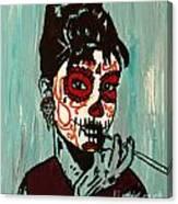 Sugar Skull Audrey Canvas Print