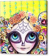 Sugar Skull Princess Canvas Print