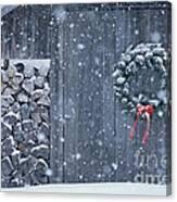 Sugarhouse At Christmas Canvas Print
