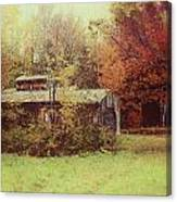 Sugarhouse In Autumn Canvas Print