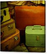 Suitcases In The Attic Canvas Print