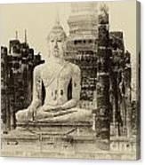 Buddha Sukhothai Thailand 1 Canvas Print