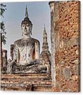 Sukhothai Historical Park - Sukhothai Thailand - 011332 Canvas Print