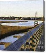 Sullivan's Island To Old Village Canvas Print