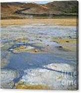 Sulphur And Volcanic Earth Canvas Print