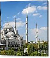 Sultan Ahmed Mosque Landmark In Istanbul Turkey Canvas Print