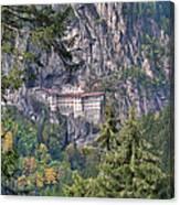 Sumela Monastery In Black Sea Region Of Turkey Canvas Print