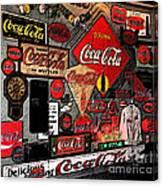 Sumi-e Styled Coca Cola Signs Canvas Print