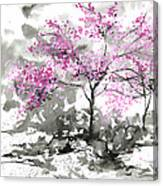 Sumie No.2 Plum Blossoms Canvas Print