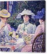 Summer Afternoon Tea In The Garden-1901 Canvas Print