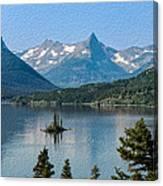 Summer At Glacier National Park Canvas Print