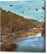 Summer At The River Canvas Print