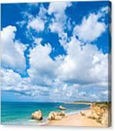 Summer Beach Algarve Portugal Canvas Print