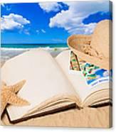 Summer Book Canvas Print