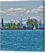 Summer Breeze From Lasalle Park Canvas Print