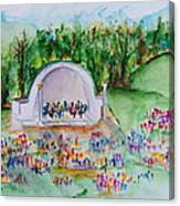 Summer Concert In The Park Canvas Print