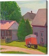 Summer Cottages Maine Canvas Print