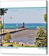 Summer Day At South Haven Mi Canvas Print