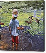 Summer Day At The Pond Canvas Print