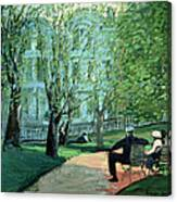 Summer Day Boston Public Garden Canvas Print
